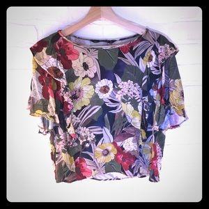 Zara Floral Printed blouse